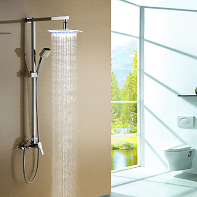 Buy Shower Faucet Color Changing LED 8 inch Head + Hand