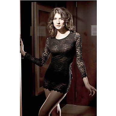 femme l gante robe de dentelle noire bow longueur 64cm