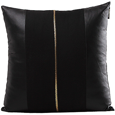 Decorative Faux Leather Pillows : Faux Leather Pillow Cover , Patchwork Traditional/Classic 526200 2016 ? USD15.29