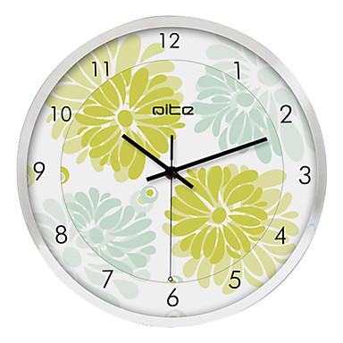 12 h flower in bloom stainless steel wall clock 546269 2017. Black Bedroom Furniture Sets. Home Design Ideas