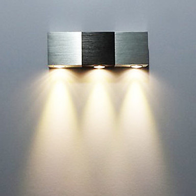 Home Center Wall Lamps : 3W Modern Led Wall Light with Scattering Light Rectangular Aluminium Body 2015 ? $26.99