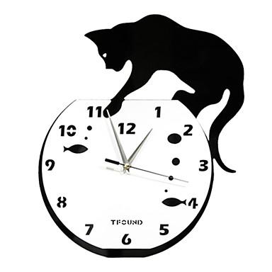 15 gatto acrilico orologio da parete di modo impertinente for Parete attrezzata fai da te