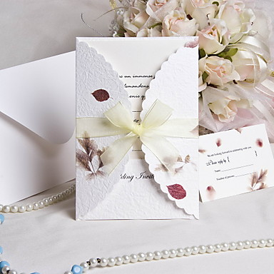 breath of autumn wedding invitation and response cards 50 sets
