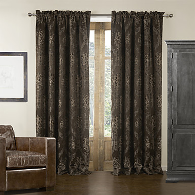 (One Panel) Barroco Damask Jacquard Blackout Curtain