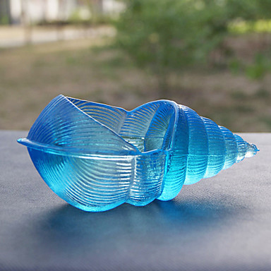 Blue Conch Style Glass Ashtray