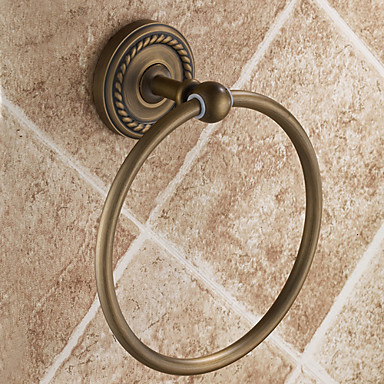 Buy Towel Ring Antique Brass Wall Mounted 153 mm (6.02 inch)