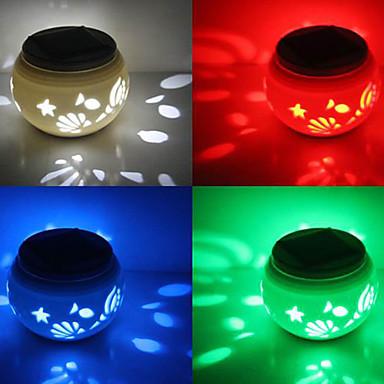 Chic keramiek rgb led kleur veranderende zonne energie tuin verlichting solar light table solar - Kleine zonne lamp ...