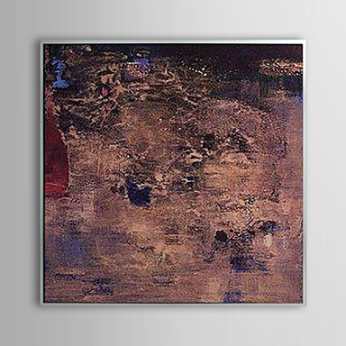 Abstract Mud and Flood Framed Oil Painting