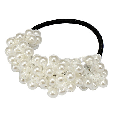 (1 Pc)Sweet White Pearl Hair Ties For Women