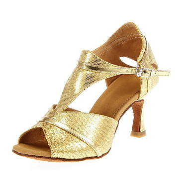 Women's Sparkling Glitter Upper Manmade Material Latin/Ballroom Dance Performance Shoes (More Colors)