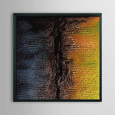 Abstract Fissure Framed Oil Painting