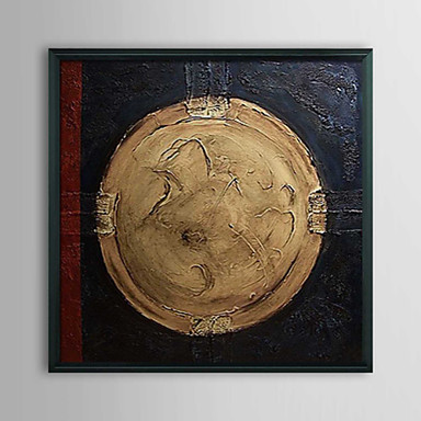 Abstract Souvenir Coin Framed Oil Painting