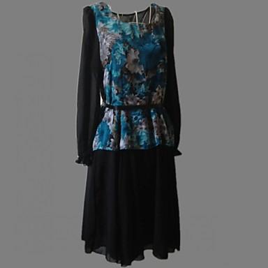 robe aux femmes grandes tailles vintage mignon mi long mousseline de soie de 712111 2016. Black Bedroom Furniture Sets. Home Design Ideas