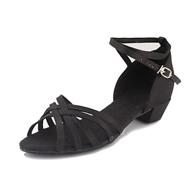 Satin Upper Dance Shoes Ballroom Latin Shoes for Women and Kids More Colors