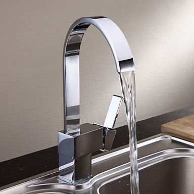 Sprinkle Kitchen Faucets Modern with Chrome Single
