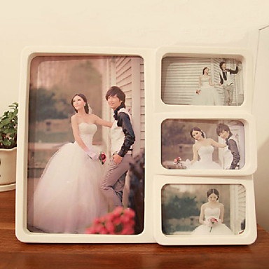 """11.75""""H Contemporary Style Wedding Collage Hanging Picture Frame"""