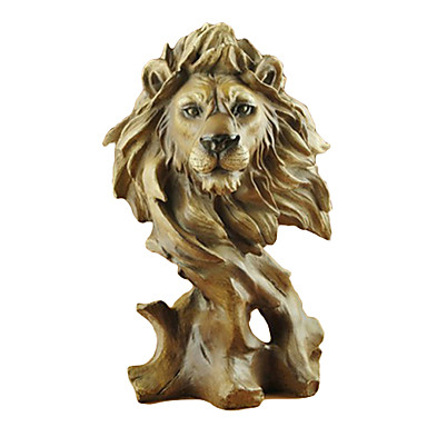 """11.25""""H Modern Style Polyresin Lion Collectibles"""