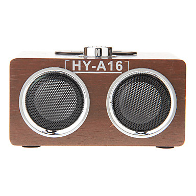 Buy Wooden Mini Stereo Music MP3 Player Loud Speaker Support TF Card USB FM Radio (HY-A16)
