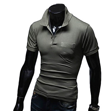 Men's Short Sleeve Running Polo Shirt Spring Fall/Autumn Sports Wear Exercise & Fitness Leisure Sports CottonYellow White Red Gray Black