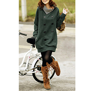 Women's Casual/Daily Simple Hoodie Solid Stand Micro-elastic Long Sleeve Spring