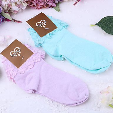 Buy 2 Color Lace Ruffle Sweet Lolita Socks