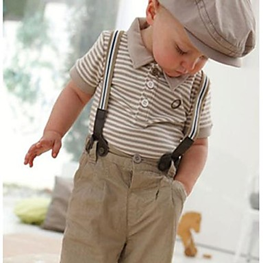 Boy's Toddler Set Gentleman Top Bib with Pants Clothing Sets