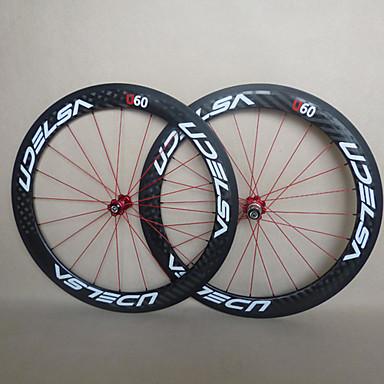 Buy UDELSA - WH-R60-C 60mm 700C Full Carbon Fiber Clincher Road Bike/Bicycle Wheelsets