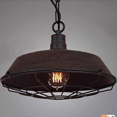 1 Light Vintage Metal Pendant Light