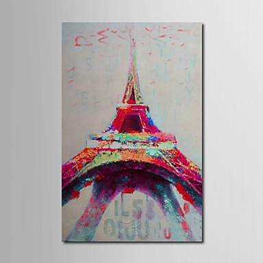 iarts oil peinture tour eiffel abstrait avec toile peinte la main sur canevas tendu de 1386777. Black Bedroom Furniture Sets. Home Design Ideas