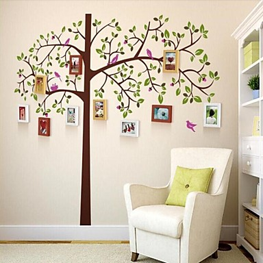 3 Colors Photo Frame Set of 10 with Wall Sticker