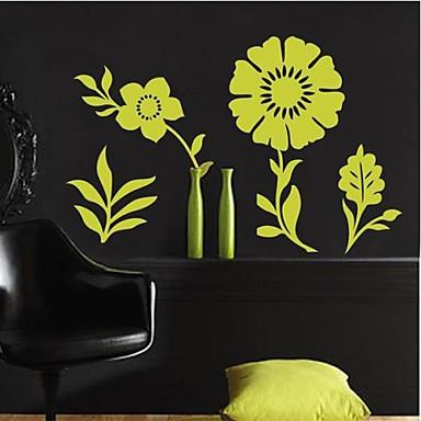 Createforlife ® Green Flower bambini Camera dei bambini Adesivi per ...