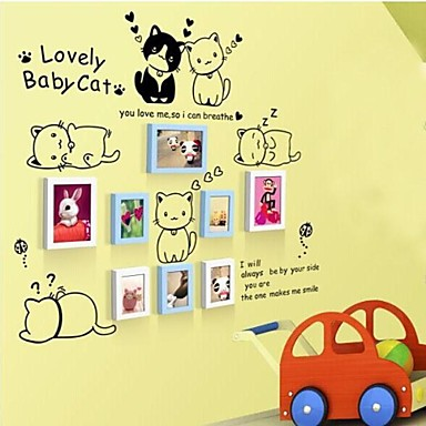 2 Colors Photo Frame Set of 8 with Wall Sticker