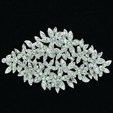 10cm Rhinetone Women mall Flower Brooch Pin for Wedding Bridal