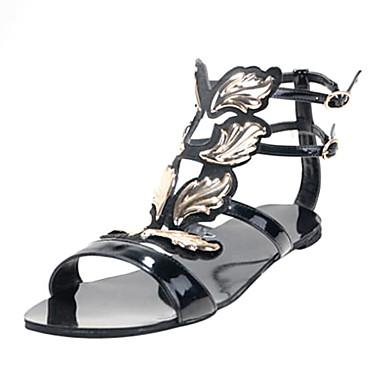 De bc lakleer vrouwen lage hak sandalen met gouden for Decoratie zomer