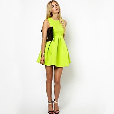 Vestido de festa neon
