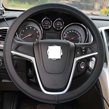 xuji universal ultra thin black genuine cowhide leather steering wheel cover 1585111 2017. Black Bedroom Furniture Sets. Home Design Ideas