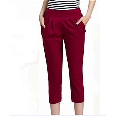 New Size High Waist Black Faux Leather Women Summer Harem Pantsin Pants