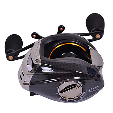 Baitcast Reel / Fishing Reel 6.3:1 13 Ball Bearings Baitcast Reels Sea Fishing Right-handed TS1200 - TSURINOYA