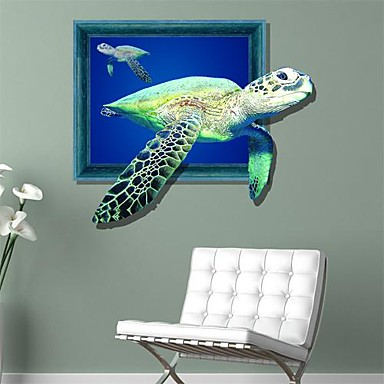 3d sea turtles wall stickers wall decals 1619170 2016. Black Bedroom Furniture Sets. Home Design Ideas