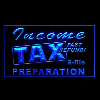 Income Tax Preparation Advertising LED Light Sign 1645955 ...