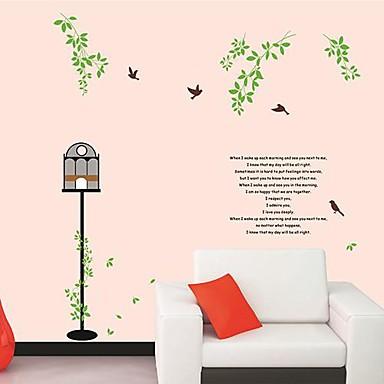 Createforlife ® verdi rami di albero volano uccelli bambini Camera dei bambini Wall Sticker Wall ...