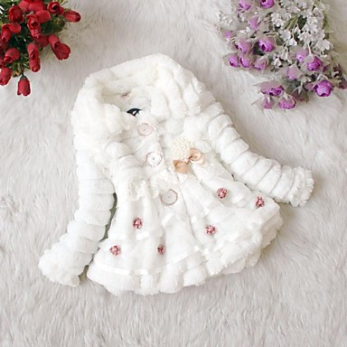 Girl's Winter Top Grade Out Wear Fur Thick Sweaters Coat