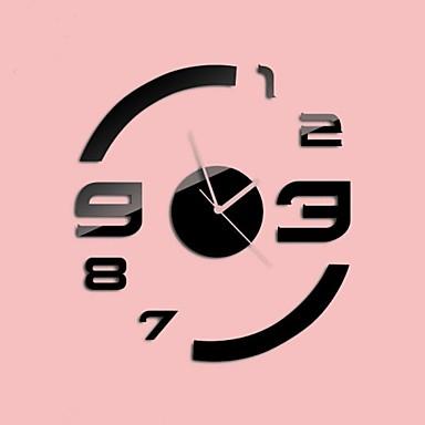 Buy 30 inchH Modern Style New Acrylic Simple Circular Mirror Wall Clock