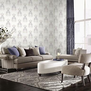 mur papier mural papier peint non tiss floral. Black Bedroom Furniture Sets. Home Design Ideas
