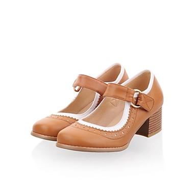 Chaussures bout rond gros paillettes de mode talons
