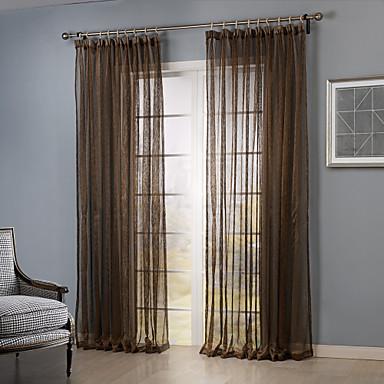 Pa s dos paneles dormitorio caf s lido cortinas for Cortinas transparentes