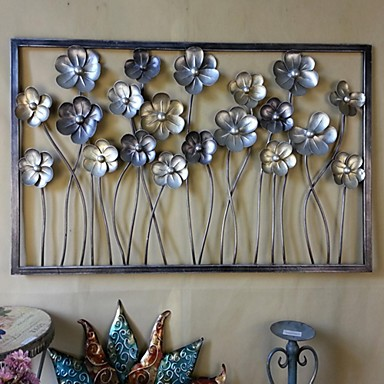 Metal wall art wall decor the flowers were blossoming open - Decoration murale en metal design ...
