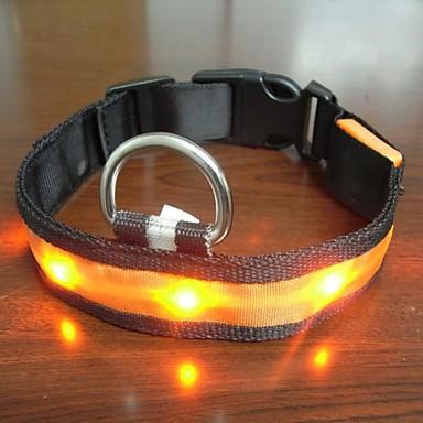 Adjustable Fashionable Flashing Nylon LED Light Pet Dog ...