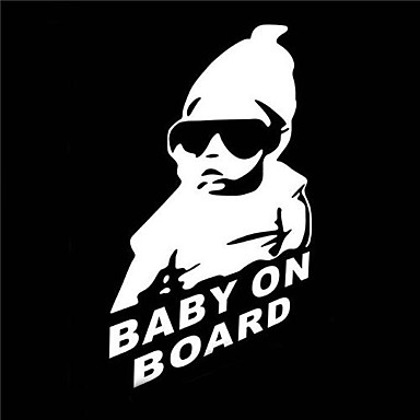 Buy 15 x 9 CM/ Cool Baby Board Car Sticker Motorcycle