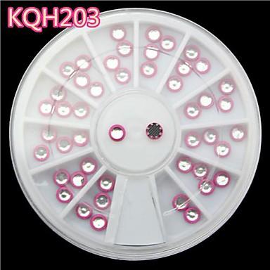 U as nuevas mixta rosa perla de acr lico de color 3d u as - Nuevas decoraciones de unas ...